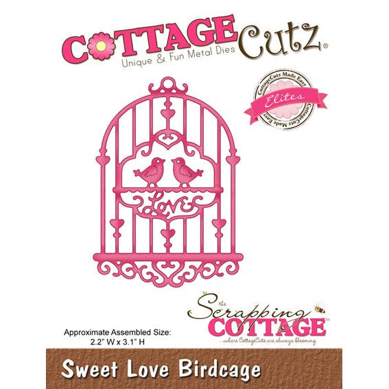 Cottage Cutz Die - Sweet Love Birdcage (Elites) - CCE-097