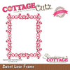 Cottage Cutz Die - Sweet Love Frame (Elites) - CCE-098