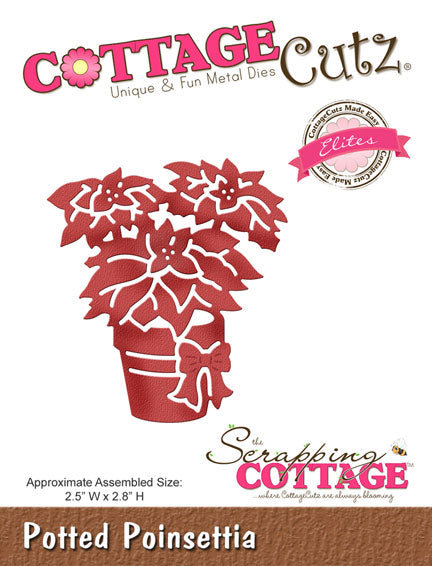 Cottage Cutz Elites Die - Potted Poinsettia - CCE-310