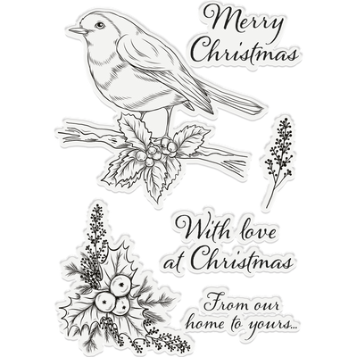 Crafters Companion Stamp - Christmas Robin
