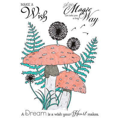Crafters Companion Stamp - Make a Wish