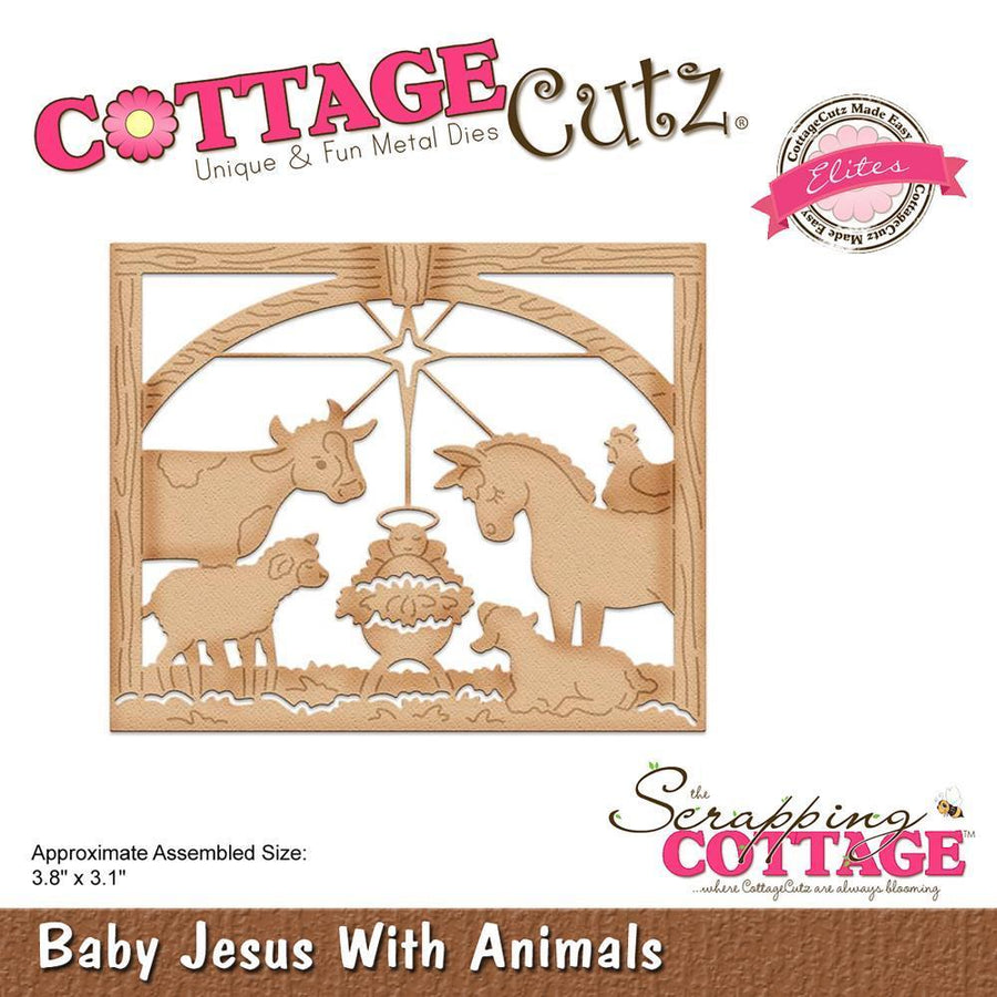 Cottage Cutz Die - Baby Jesus With Animals - CCE-483