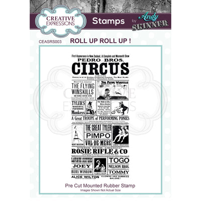Andy Skinner - Roll up Roll up! Stamp by Creative Expressions