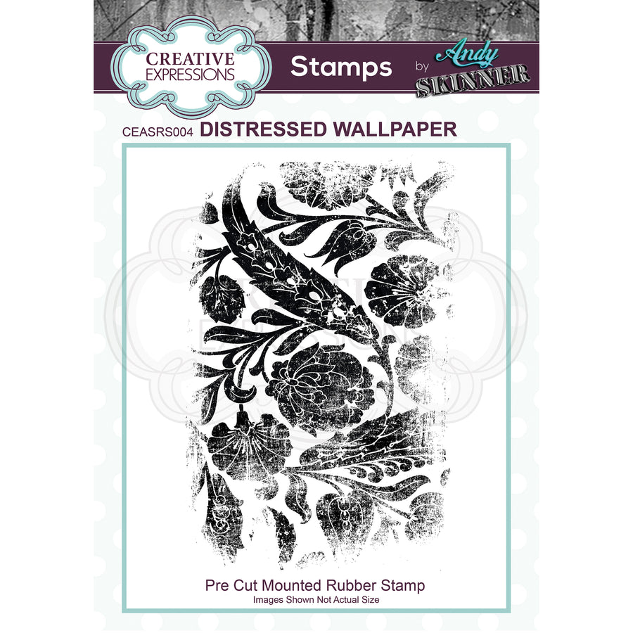 Andy Skinner - Distressed Wallpaper Stamp by Creative Expressions