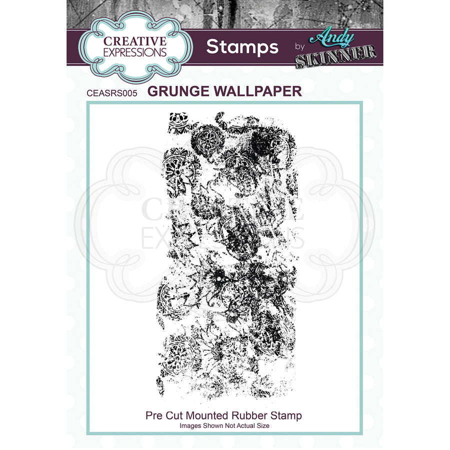 Andy Skinner - Grunge Wallpaper Stamp by Creative Expressions