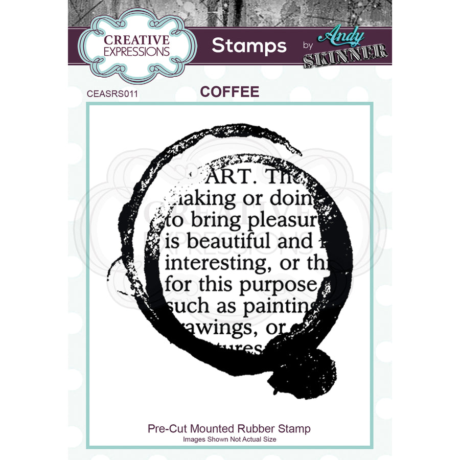 Andy Skinner Stamp by Creative Expressions - Coffee Art