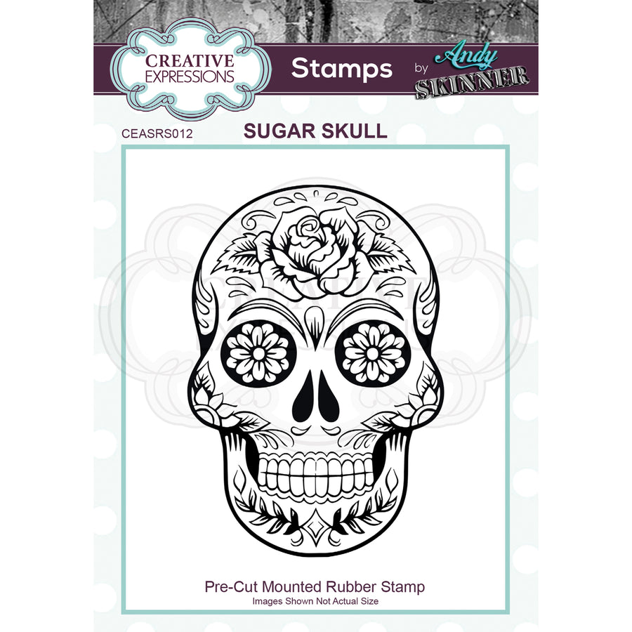 Andy Skinner Stamp by Creative Expressions - Sugar Skull