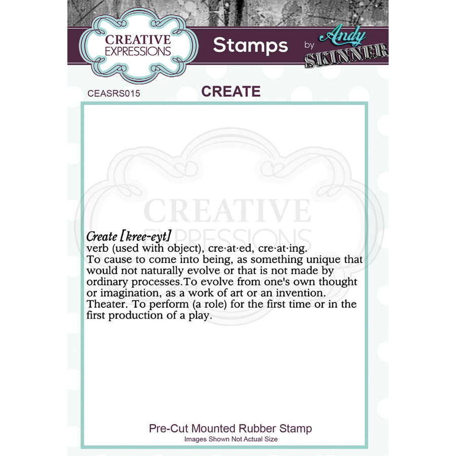 Andy Skinner Stamp by Creative Expressions - Create