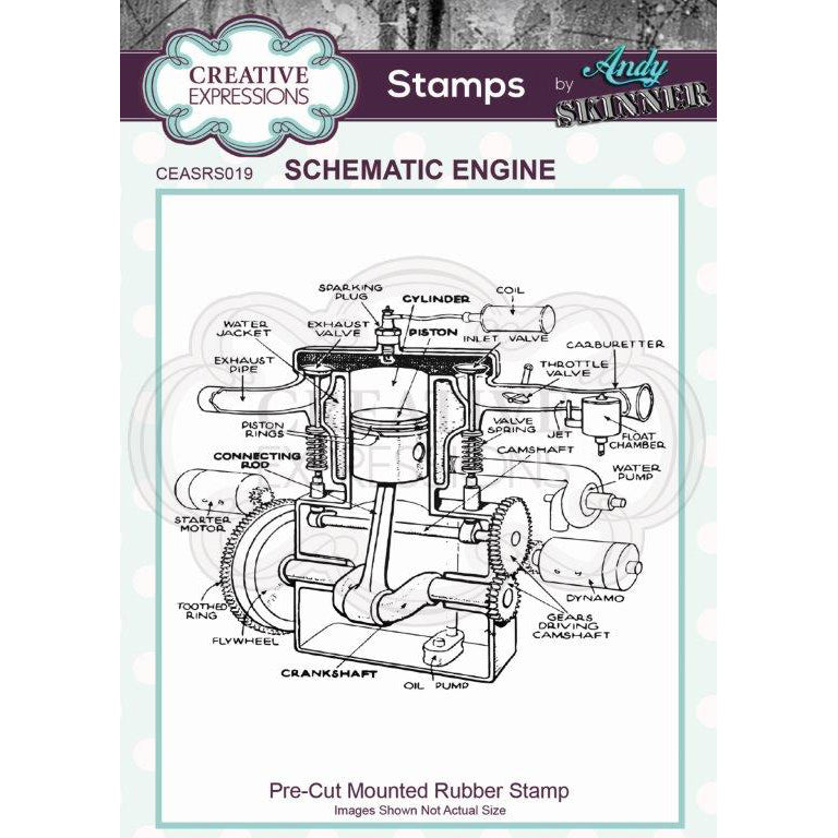 Andy Skinner Stamp by Creative Expressions - Schematic Engine