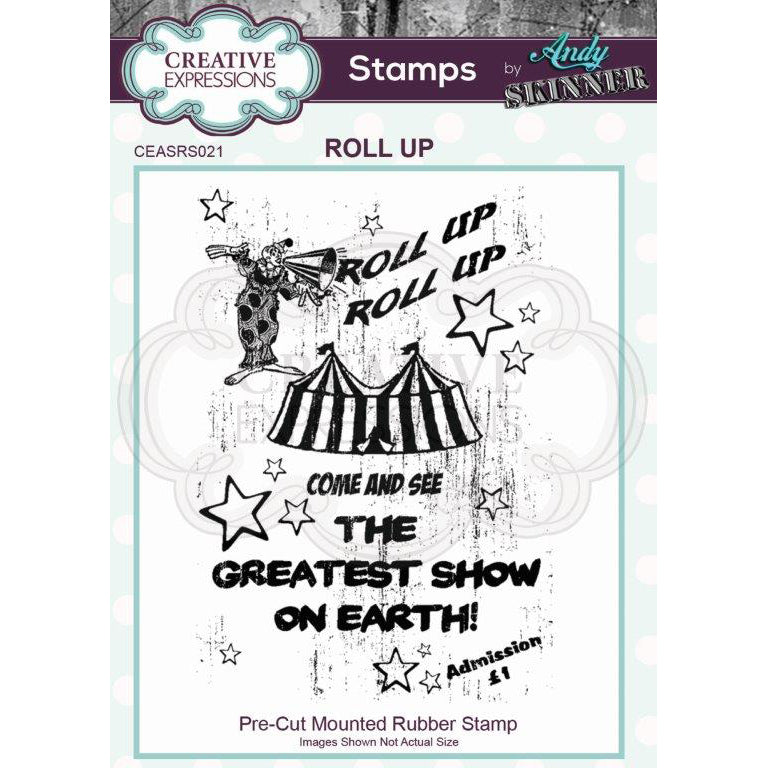 Andy Skinner Stamp by Creative Expressions - Roll Up