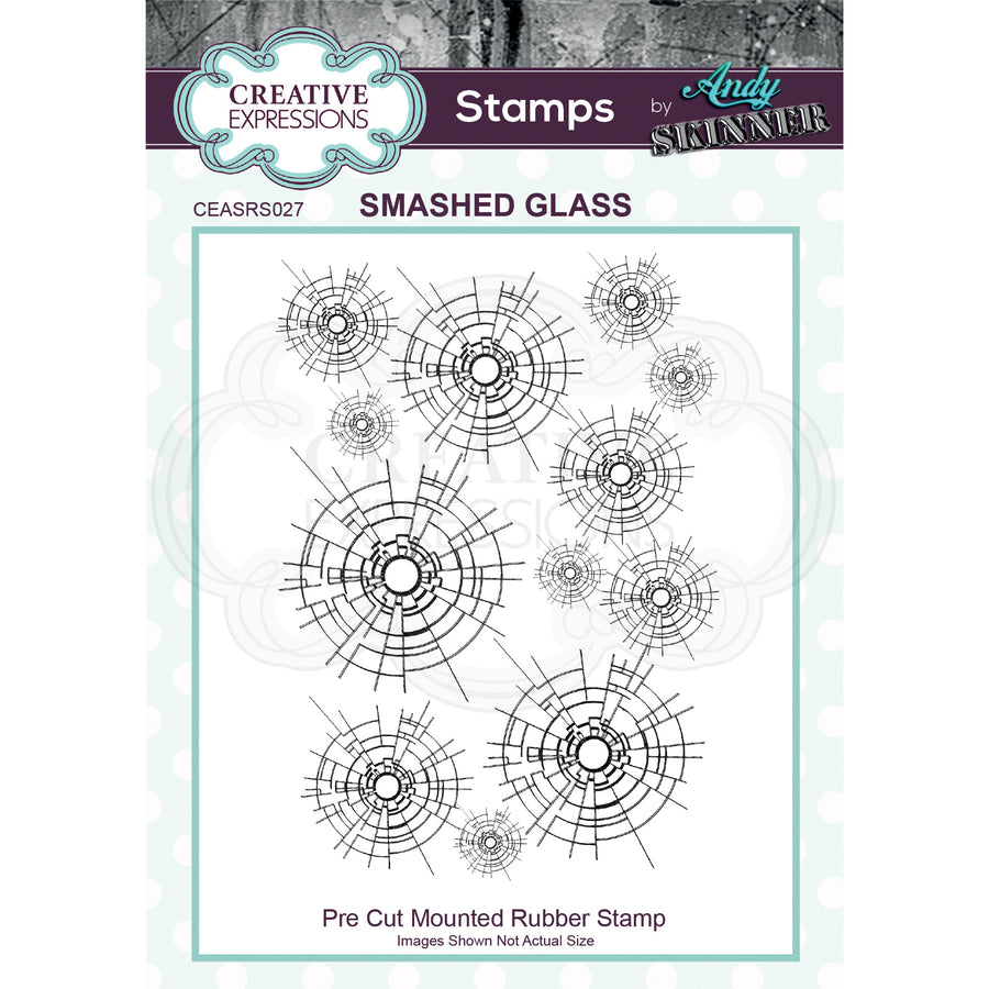 Andy Skinner Stamps by Creative Expressions - Smashed Glass