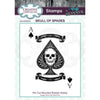 Andy Skinner Stamps by Creative Expressions - Skull of Spades