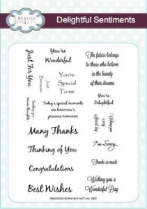 Creative Expressions Stamp Sets - Delightful Sentiments A5
