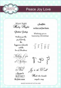 Creative Expressions Stamp Sets - Peace Joy Love A5