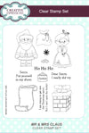 Creative Expressions Stamps: Mr and Mrs Claus A5 Clear Stamp Set