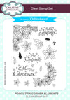 John Lockwood Stamps - Poinsettia Corner Elements A5 Clear Stamp Set