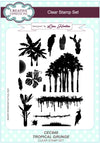 Lisa Horton A5 Clear Stamp Set: Tropical Grunge - CEC848