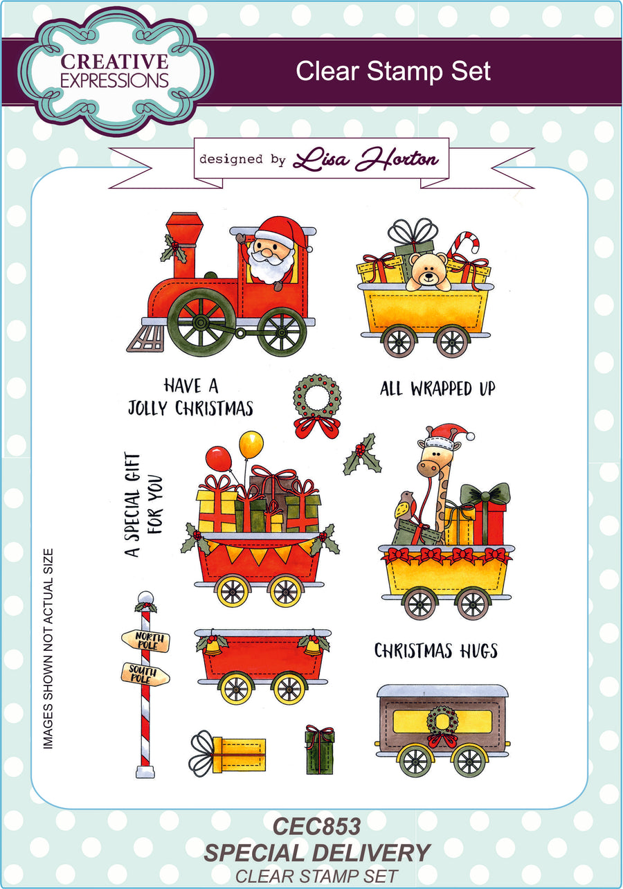 Lisa Horton Stamps - Special Delivery A5 Clear Stamp Set (CEC853)