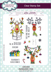 Lisa Horton Stamps - Reindeer Fun A5 Clear Stamp Set (CEC854)