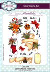 Lisa Horton Stamps - Christmas Ribbons A5 Clear Stamp Set (CEC859)