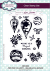 Lisa Horton Stamps - Festive Flurry Baubles & Bows A5 Clear Stamp Set (CEC862)