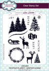 Lisa Horton Stamps - Festive Flurry Winter Scene A5 Clear Stamp Set (CEC863)