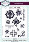 Lisa Horton Stamps - Festive Flurry Altered Snowflakes A5 Clear Stamp Set (CEC865)
