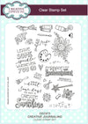 Creative Expressions Stamps: Creative Journaling A5 Clear Stamp Set
