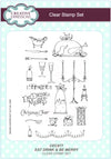 Lisa Horton Stamps - Eat Drink and Be Merry A5 Clear Stamp Set (CEC877)