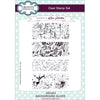 Lisa Horton Stamps - Background Slices A5 Clear Stamp Set - CEC923
