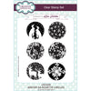 Lisa Horton Stamps - A5 Clear Stamp Set - Winter Silhouette Circles - CEC930