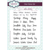 Lisa Horton Stamps - A5 Clear Stamp Set - Festive Script Sentiments - CEC931