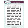 Lisa Horton Stamps - A5 Clear Stamp Set - Festive Ticker Tape Wording - CEC932