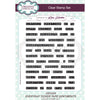 Lisa Horton Stamps - Everday Ticker Tape Sentiments A5 Clear Stamp Set - CEC934