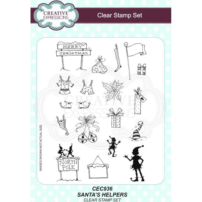 Willowby Woods Collection - Santa's Helpers A5 Clear Stamp Set - CEC936