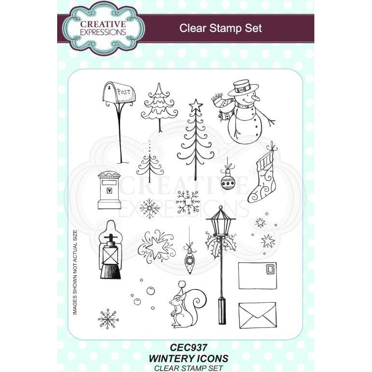Willowby Woods Collection - Wintery Icons A5 Clear Stamp Set - CEC937