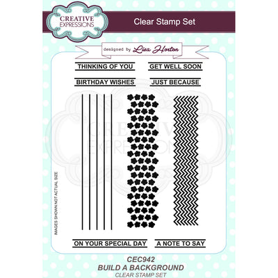 Lisa Horton - Build a Background A5 Clear Stamp Set - CEC942