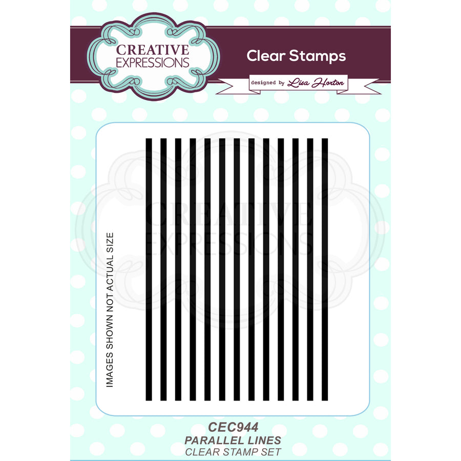 Lisa Horton - Parallel Lines A6 Clear Stamp Set - CEC944