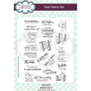 Sue Wilson A5 Clear Stamp Set - Wine Not - CEC951