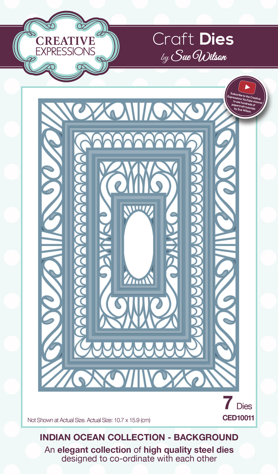 Craft Dies by Sue Wilson - Indian Ocean Collection - Background (CED10011)