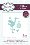 Craft Dies by Sue Wilson - New Arrival Collection - Stork & Baby (CED10024)