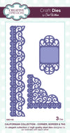 Craft Dies by Sue Wilson - Californian Collection - Corners Border and Tag CED1102