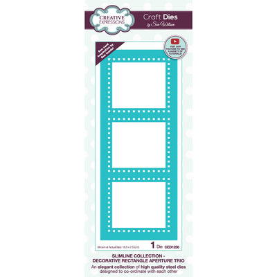 Sue Wilson Dies by Creative Expressions - Slimline - Decorative Rectangle Aperture Trio - CED1256
