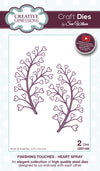 Craft Dies by Sue Wilson - Finishing Touches Collection - Heart Spray (CED1459)