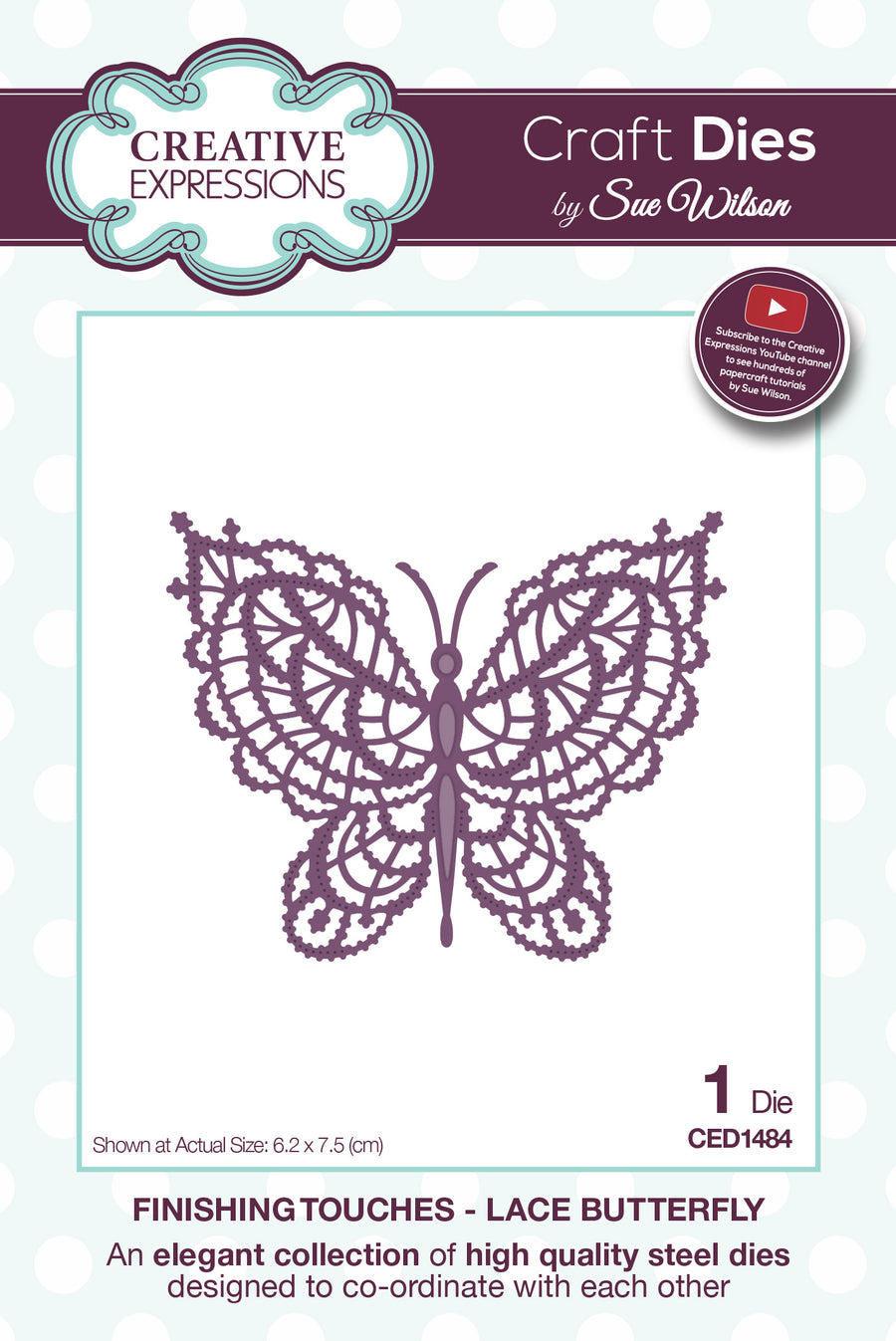 Sue Wilson Dies: Finishing Touches - Lace Butterfly (CED1484)
