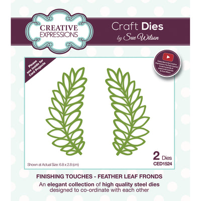 Sue Wilson Dies - Finishing Touches Collection - Feather Leaf Fronds - CED1524