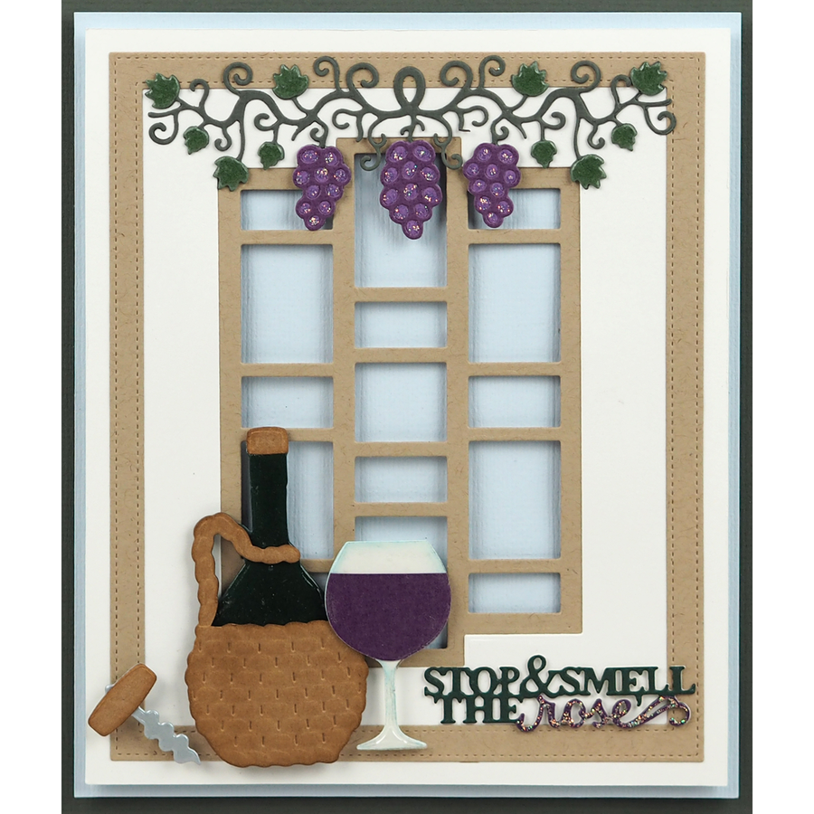 Sue Wilson Dies - Frames & Tags Collection - Grape Vine Frame - CED4391