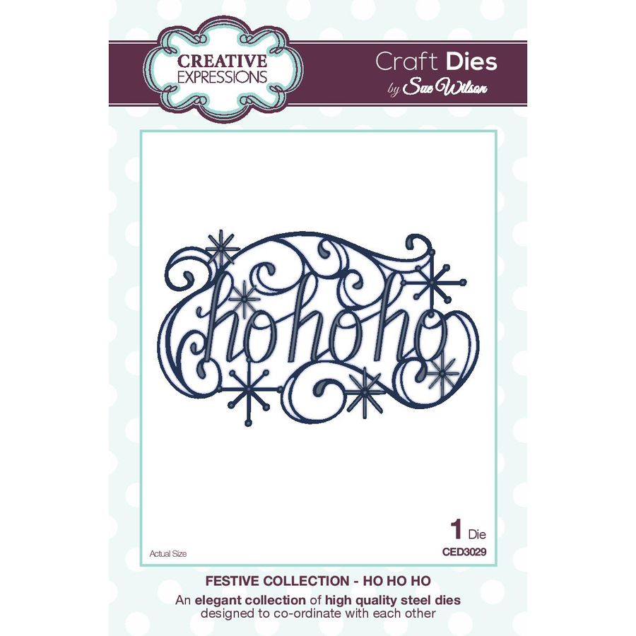Craft Dies by Sue Wilson - Festive Collection - Ho Ho Ho - CED3029