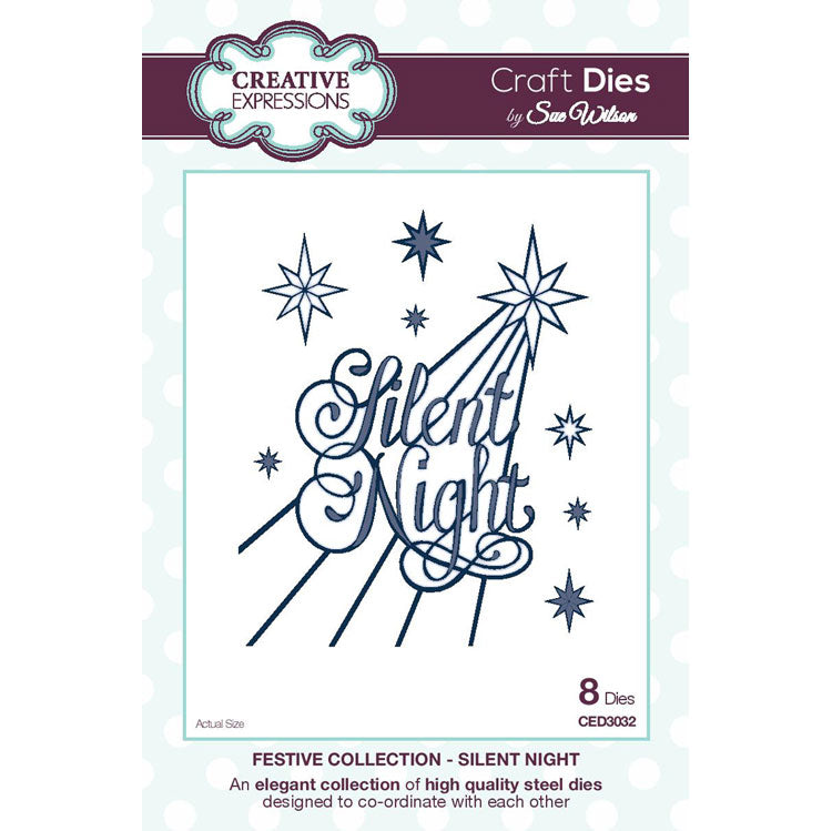 Craft Dies by Sue Wilson - Festive Collection - Silent Night - CED3032