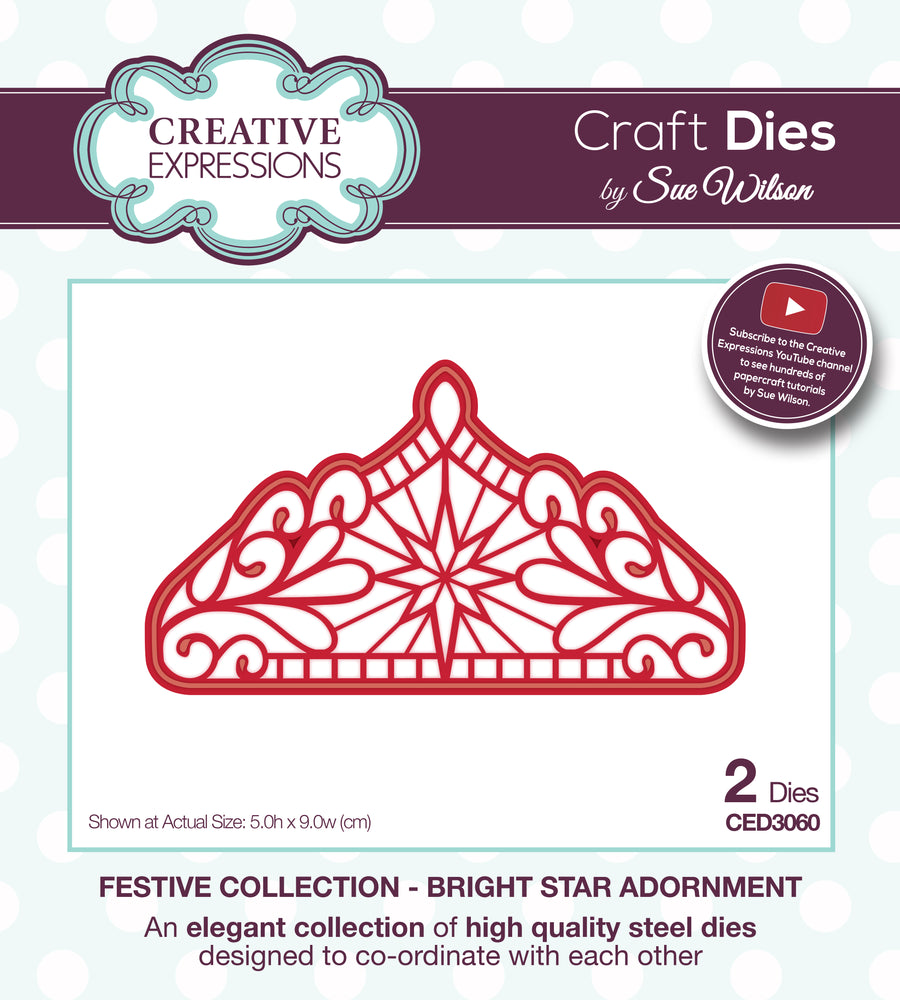 Sue Wilson Dies - Festive Collection - Bright Star Adornment - CED3060